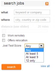 Stackoverflow'da yer alan Careers 2.0 iş ilanlarında pek çok şirket Joel Testi skorlarını paylaşarak yetenekliyazılımcıların dikkatini çekmeye çalışıyor.